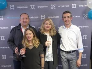 D'esquerra a dreta: Ferran Najar, Director d'Emccat Grup, Gemma Dot, Mireia Dot i Carles Subirà, responsables d'Emccat Arquimatt.