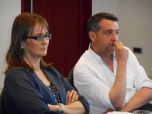 Núria Casamiquela y Josep Mª Bosom