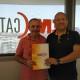 Valentí Carbonell d'Emccat Materials del Freser amb Ferran Nájar, Director d' Emccat Grup.
